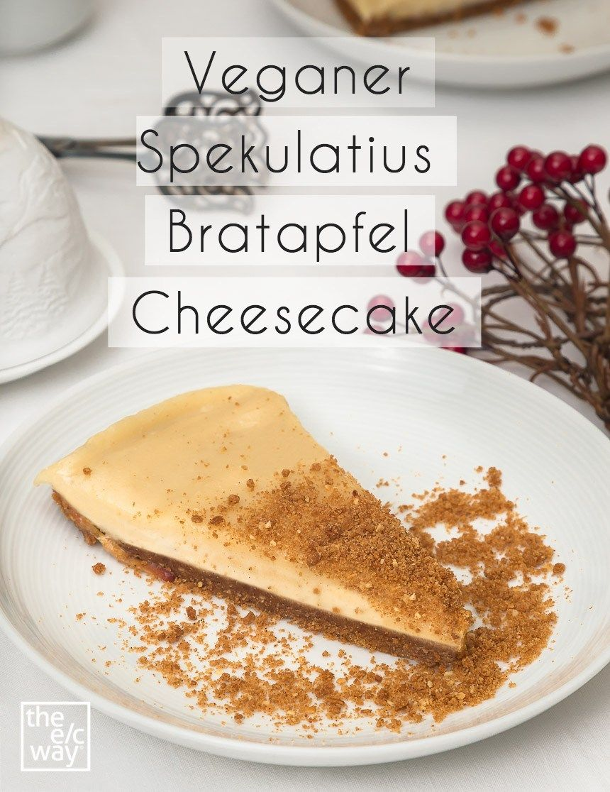 Photo of Vegan speculoos baked apple cheesecake // recipe from The e / c way