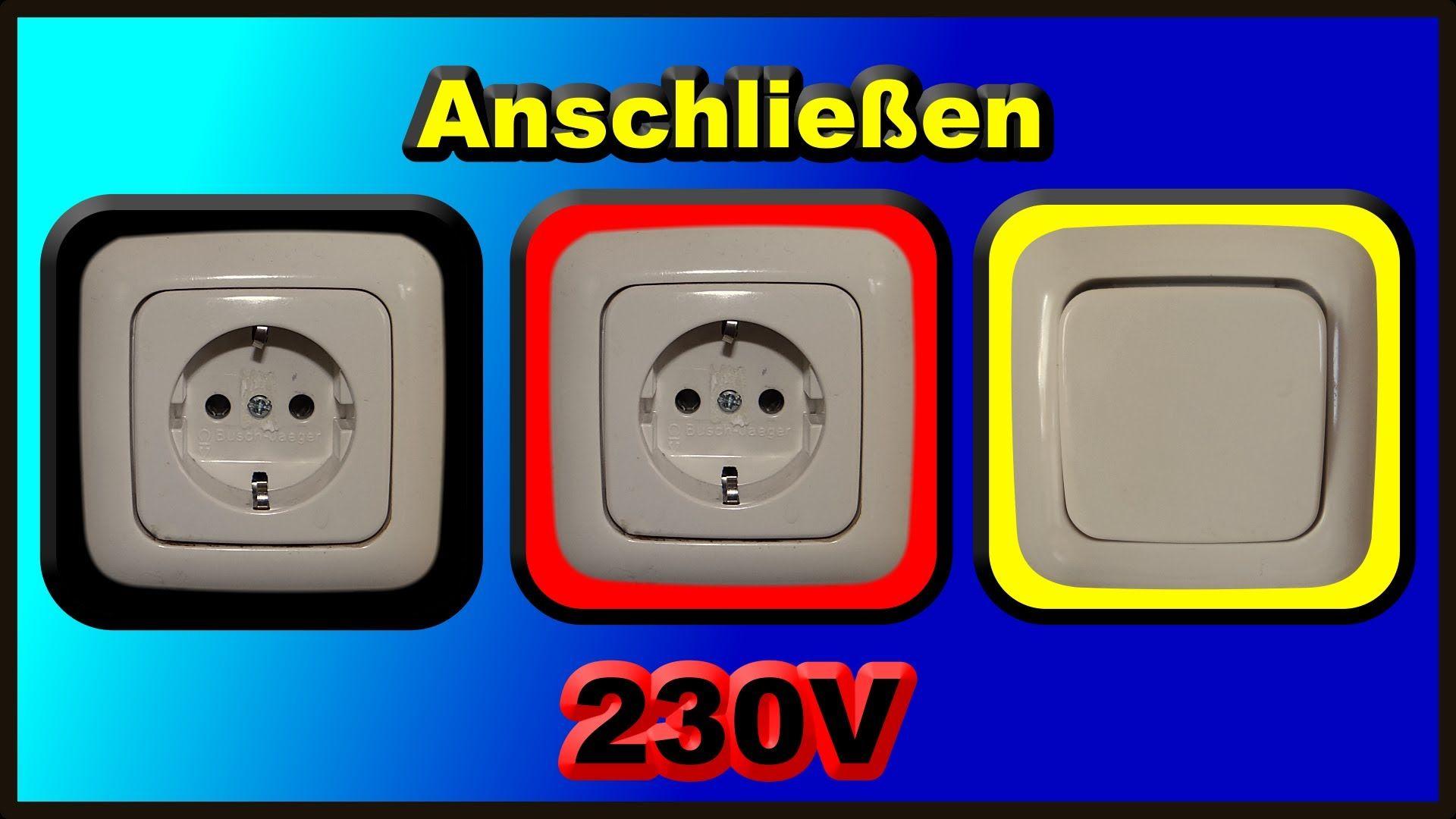 Elektroinstallation Teil 2: Anschließen zweier 230V Schuko ...