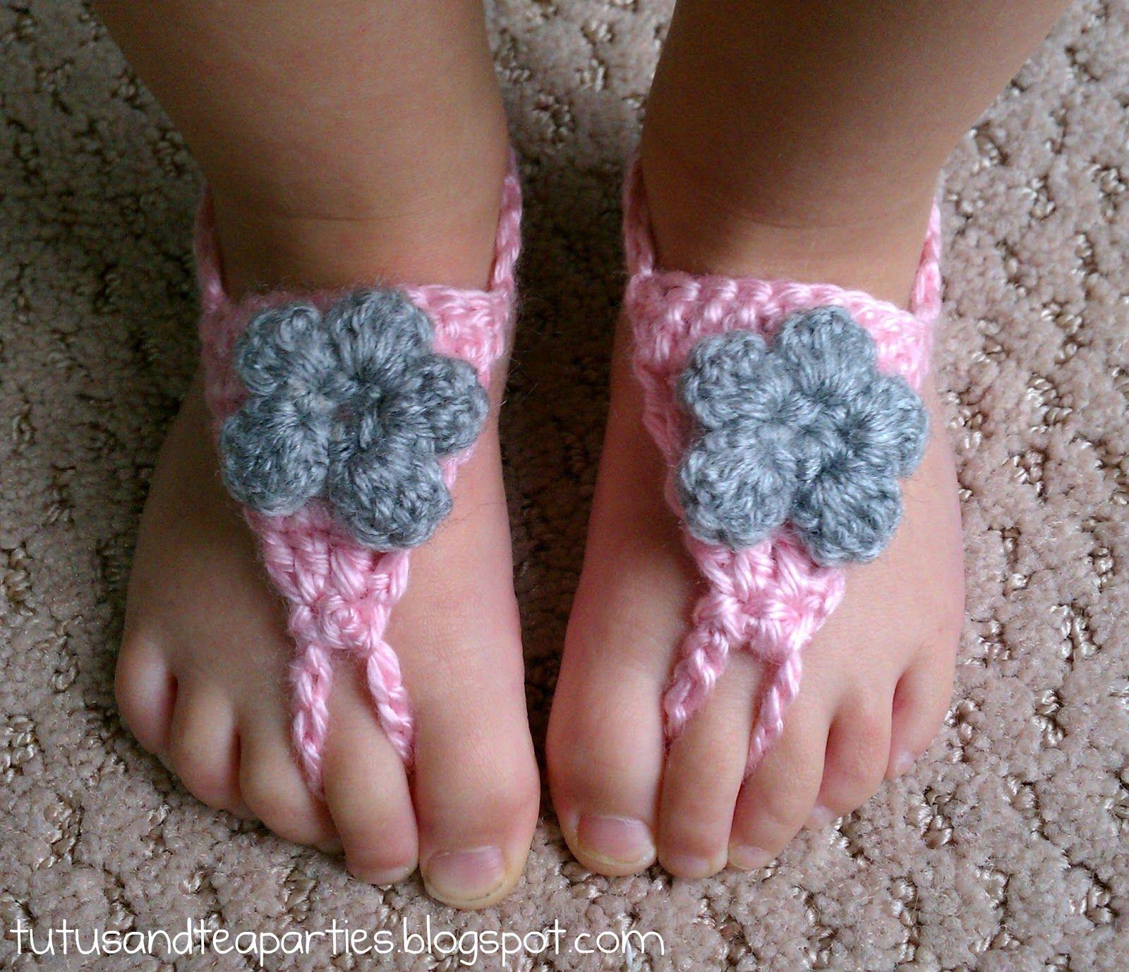 Tutus and Tea Parties: Crochet Barefoot Sandal {Free Crochet Pattern ...