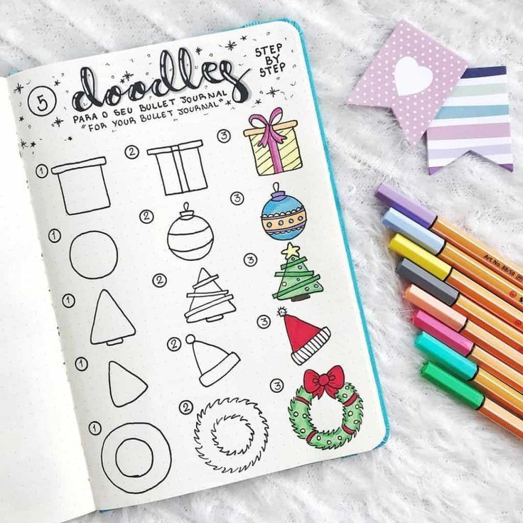 Bullet Journal Doodles: 24 Amazing Doodle Ideas For Beginners & Beyond #septemberbulletjournalcover