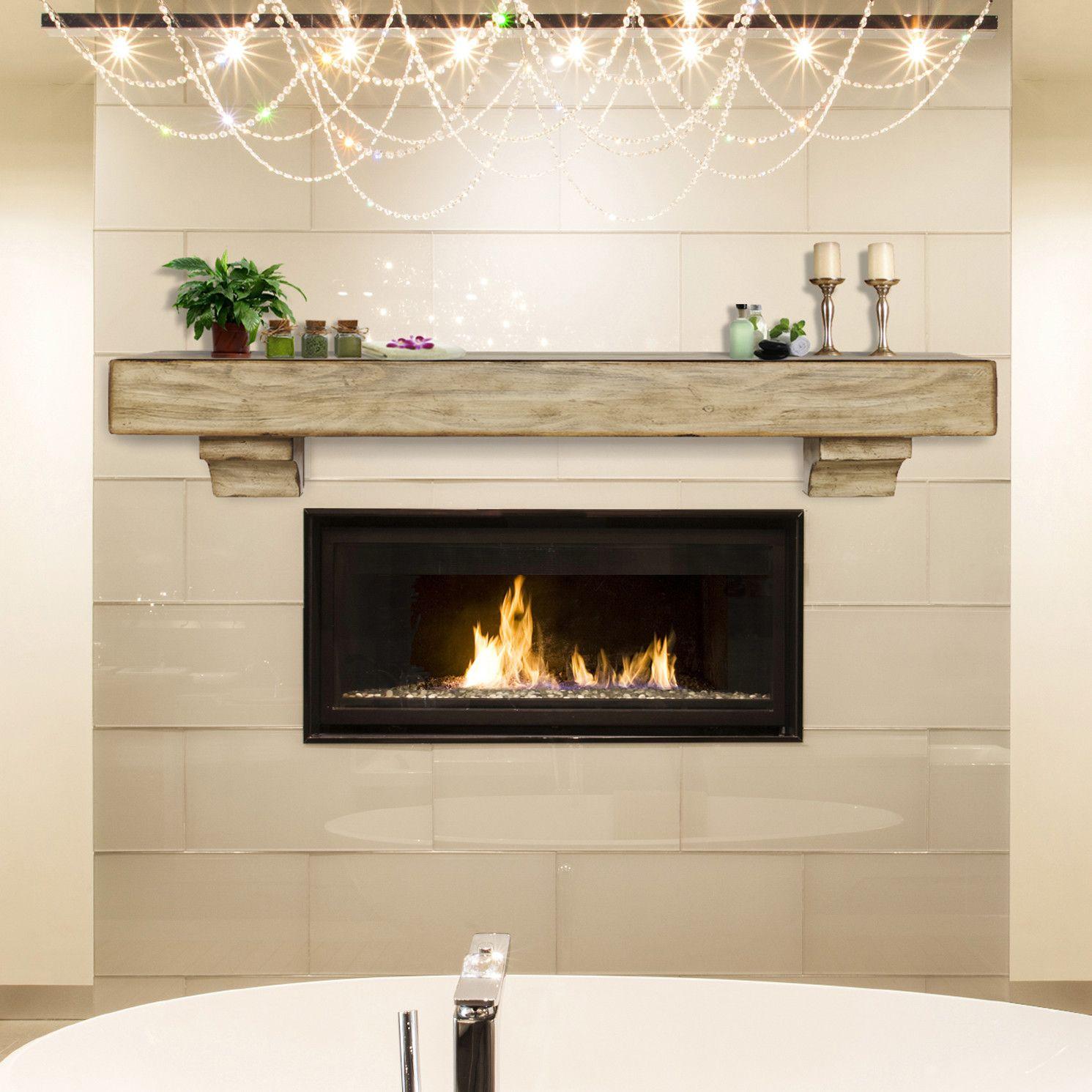 Exciting mantel shelf for inspiring floating shelves for Fireplace mantel shelf designs