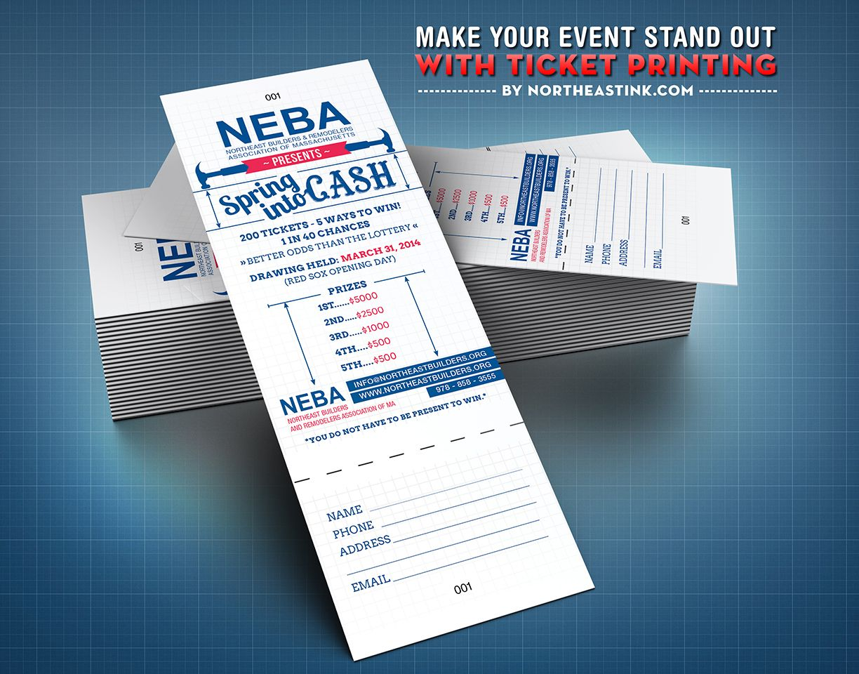 event  raffle  ticket  tickets  ticketprinting  printing  design  print northeastink com
