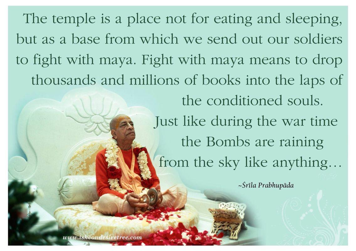Our temple is our soul  Radha krishna quotes, Srila prabhupada