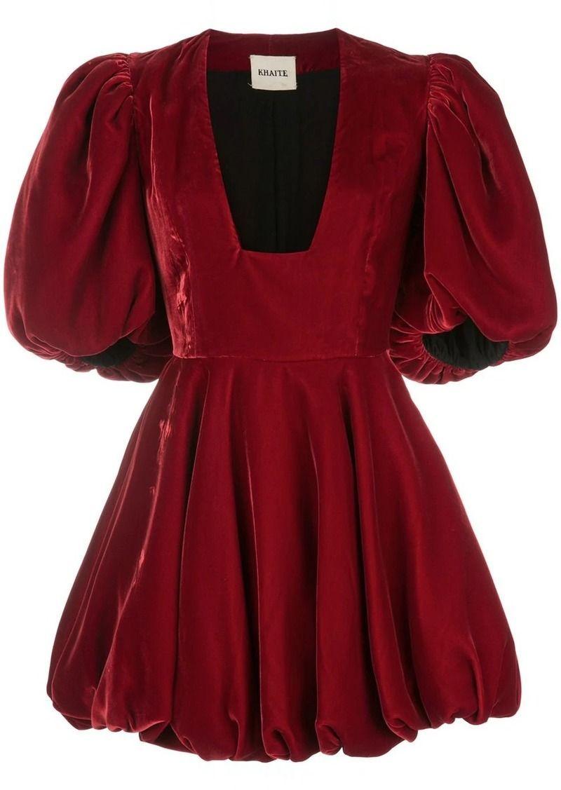 Khaite Puff Sleeve Dress Via Shop It To Me Puffed Sleeves Dress Puff Sleeves Dress Puff Sleeve Dresses [ 1127 x 800 Pixel ]