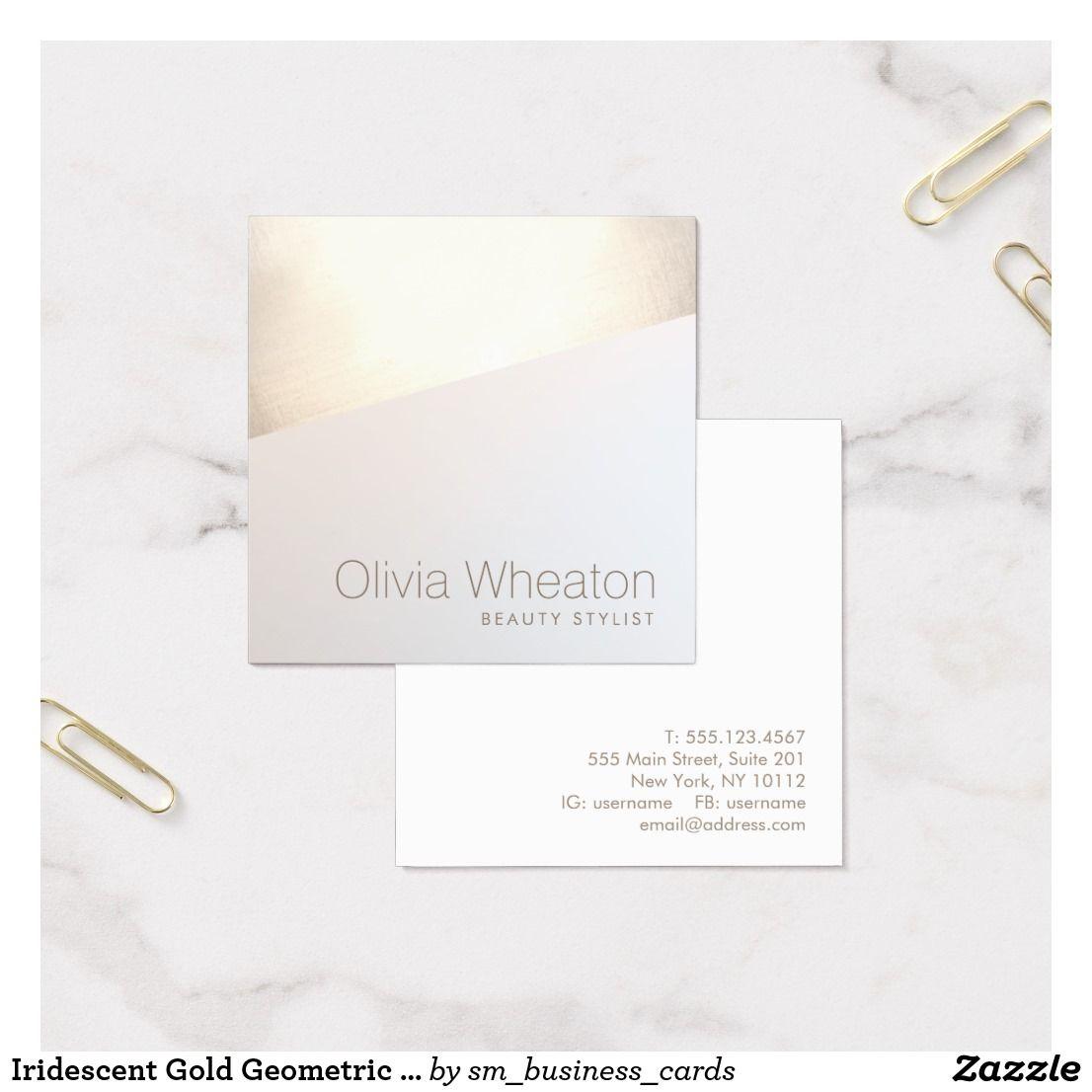 Iridescent gold geometric salon stylist square business card iridescent gold geometric salon stylist square business card colourmoves
