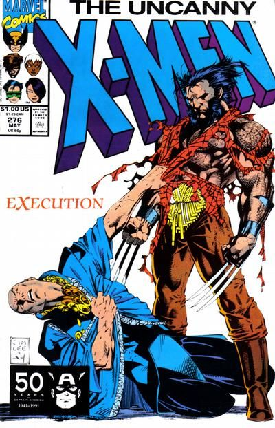 The Uncanny X-Men #276 (1981 series) - cover by Jim Lee
