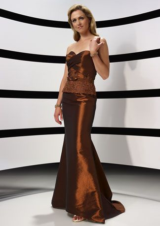 8WDSHOP.CO - Buy Engrossing Sweetheart Chocolate Floor Length Elegant Mother Of Bride Dress At Cheap Prices