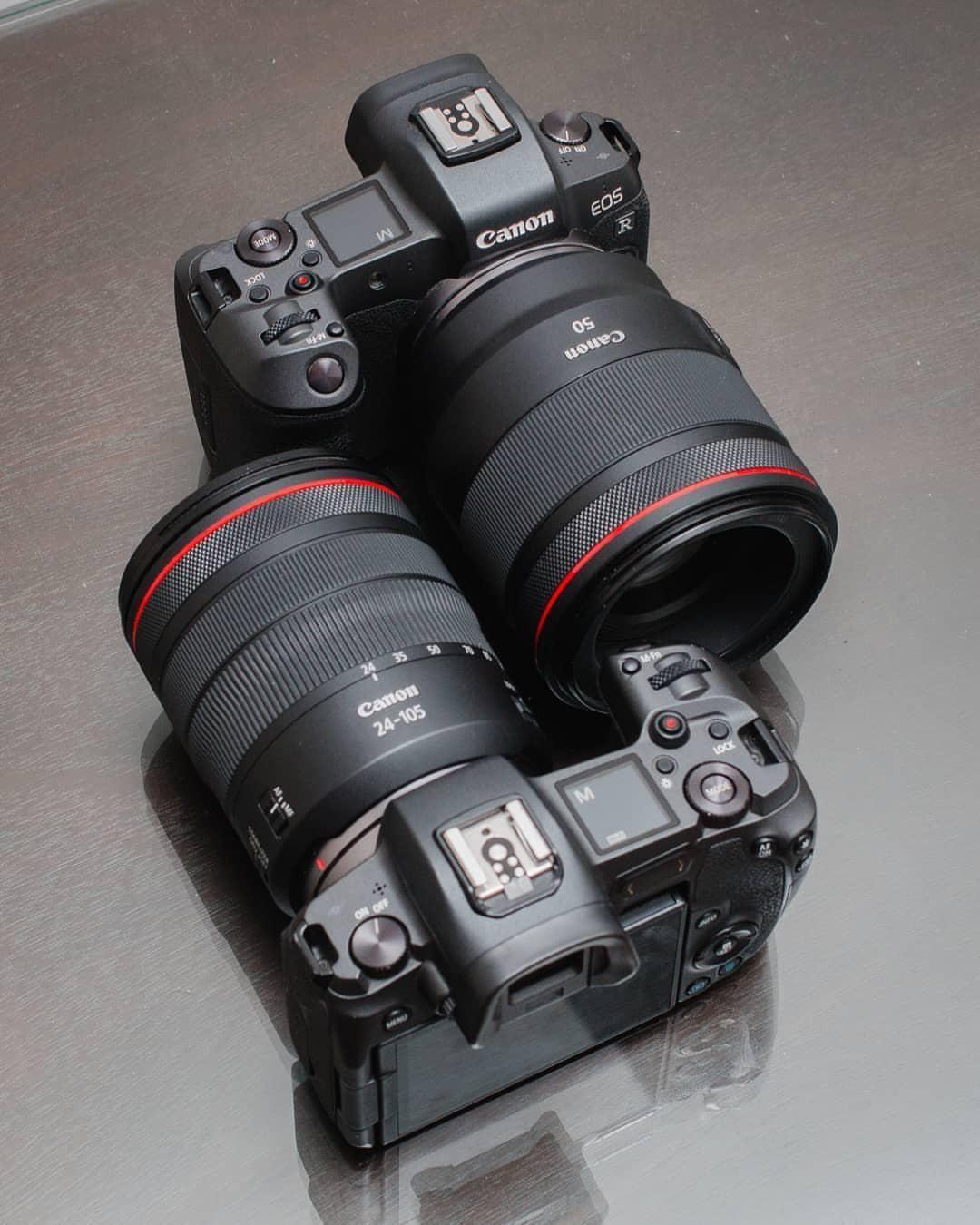 Canon Eos R Canon Rf 24 105mm F 4 Canon Eos R Canon Rf 50mm F 1 2 Camera Camera Photography Mirrorless Camera