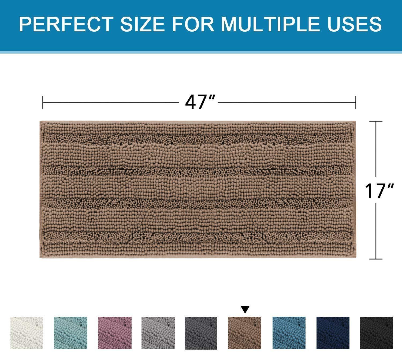 This Super Large Luxurious Shag Rug Can Soak Up The Water And Keep Your Floor Dry Like A Foam Sponge It Ke In 2020 Bathroom Rugs Bath Runner Rugs Large Bathroom Rugs