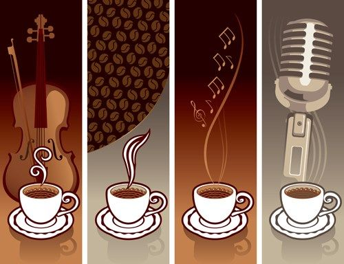 coffee cards design elements vector 02