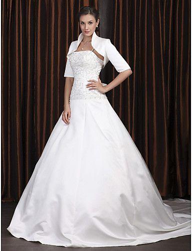vestido de novia de satén con bolero nyx @ vestidos de novia blog
