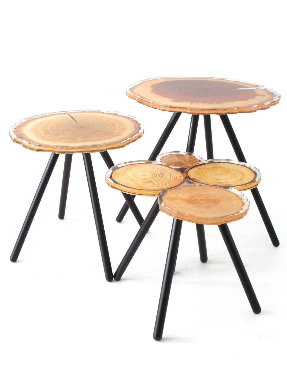 table acrylique quebec rondins de bois bricolage pinterest. Black Bedroom Furniture Sets. Home Design Ideas