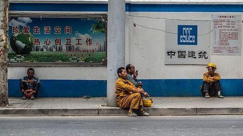 Workers in Shanghai