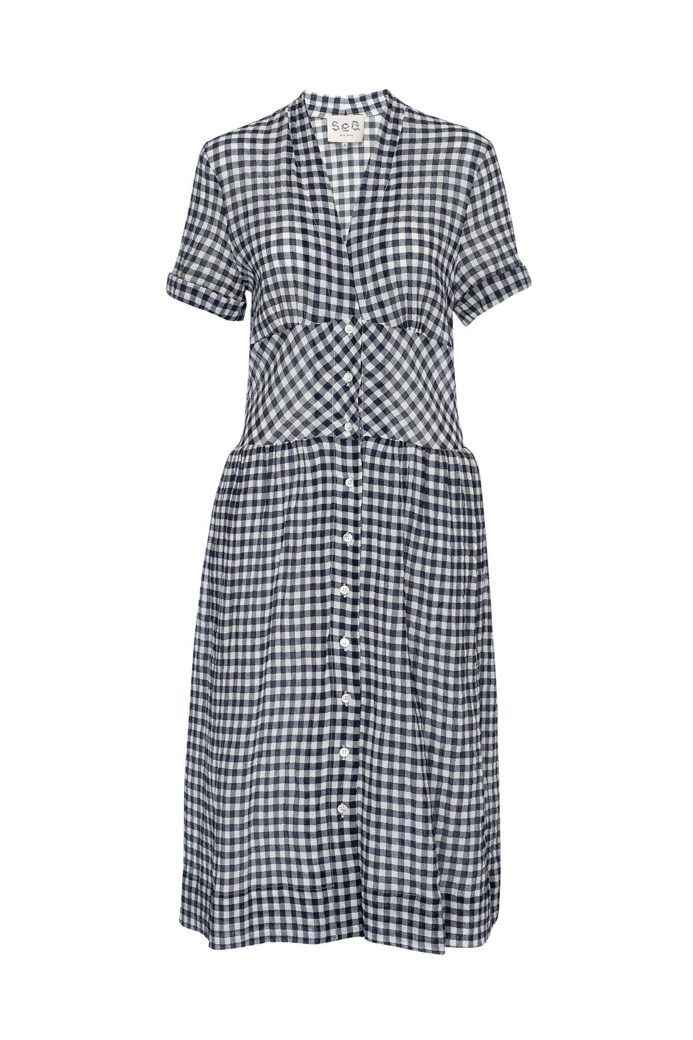 Sea NY Gingham Buttondown Dress