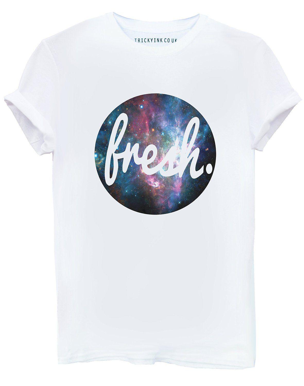 a6cf72ef Fresh Space Galaxy Blue White T Shirt S M L XL 2XL SWAG HYPE SUPREME Mens  Womens Boys Girls ONLY £5.95: Amazon.co.uk: Clothing