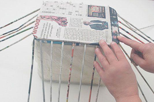 Caixa Organizadora De Jornal Reciclado Portal De Artesanato O