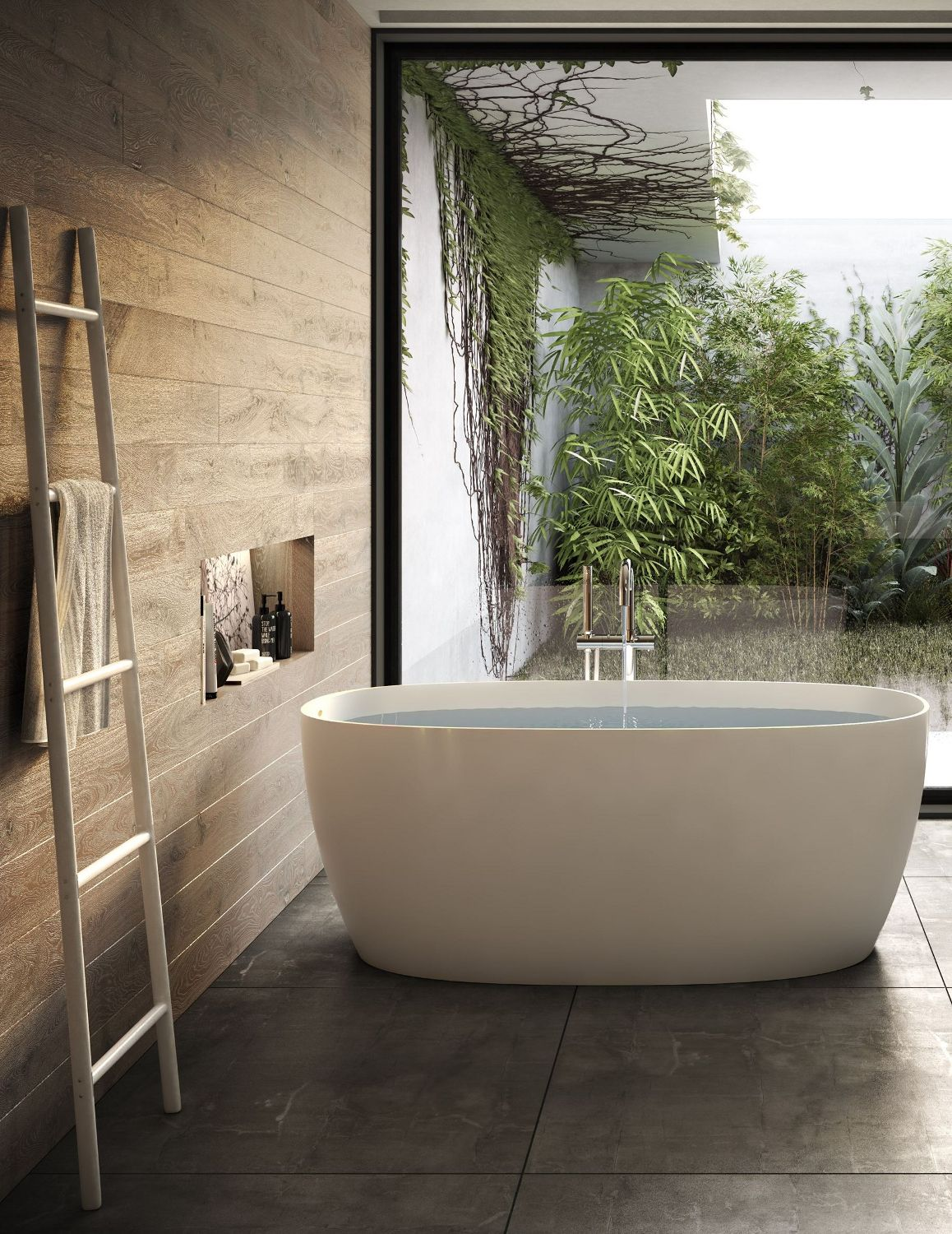 ATTITUDE Freestanding composite material #bathtub by Jacuzzi Europe
