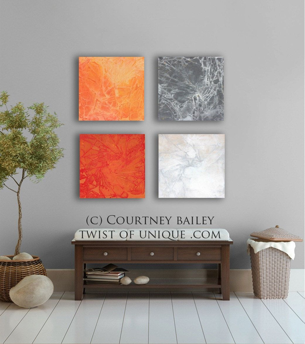 Bold And Vivid Large Abstract Painting 4 Square Custom Abstract Wall Art Office Abstract Artwo Diy Canvas Wall Art Large Abstract Painting Art Gallery Wall