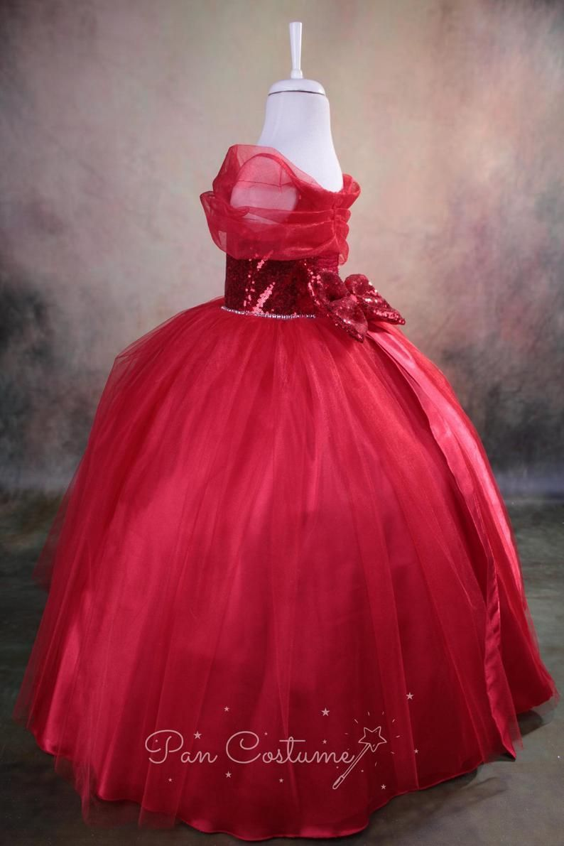 Red Christmas Princess Costume Red Sparkle Girl Dress Xmas Costume In 2021 Princess Costumes For Girls Princess Costume Birthday Party Dress [ 1191 x 794 Pixel ]