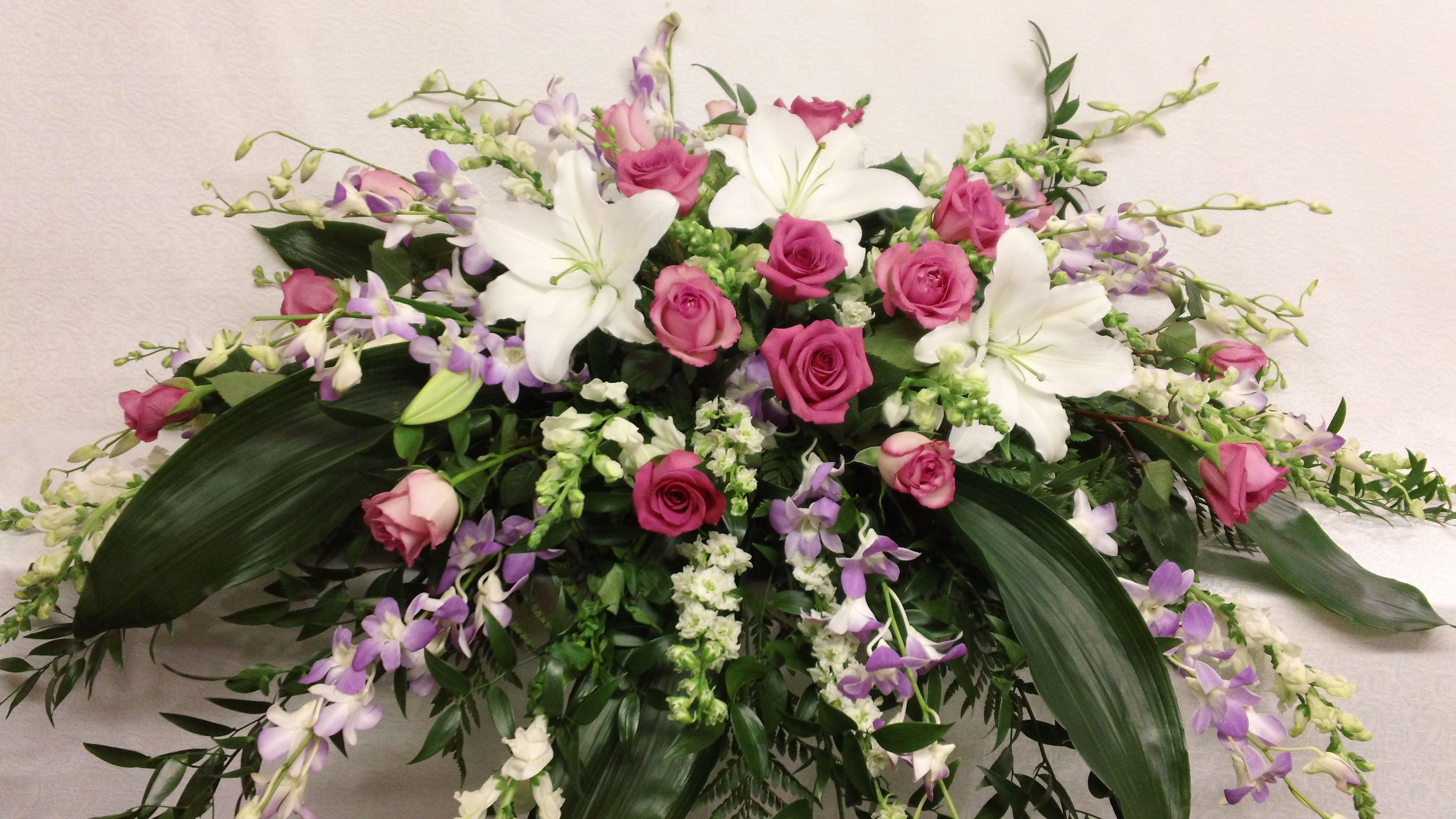 Casket Spray Flower Ideas Pinterest Sympathy Flowers And