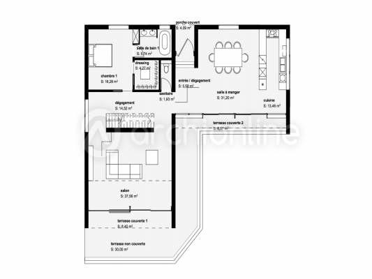 Plan De Maison Contemporaine  Maison    Bungalow