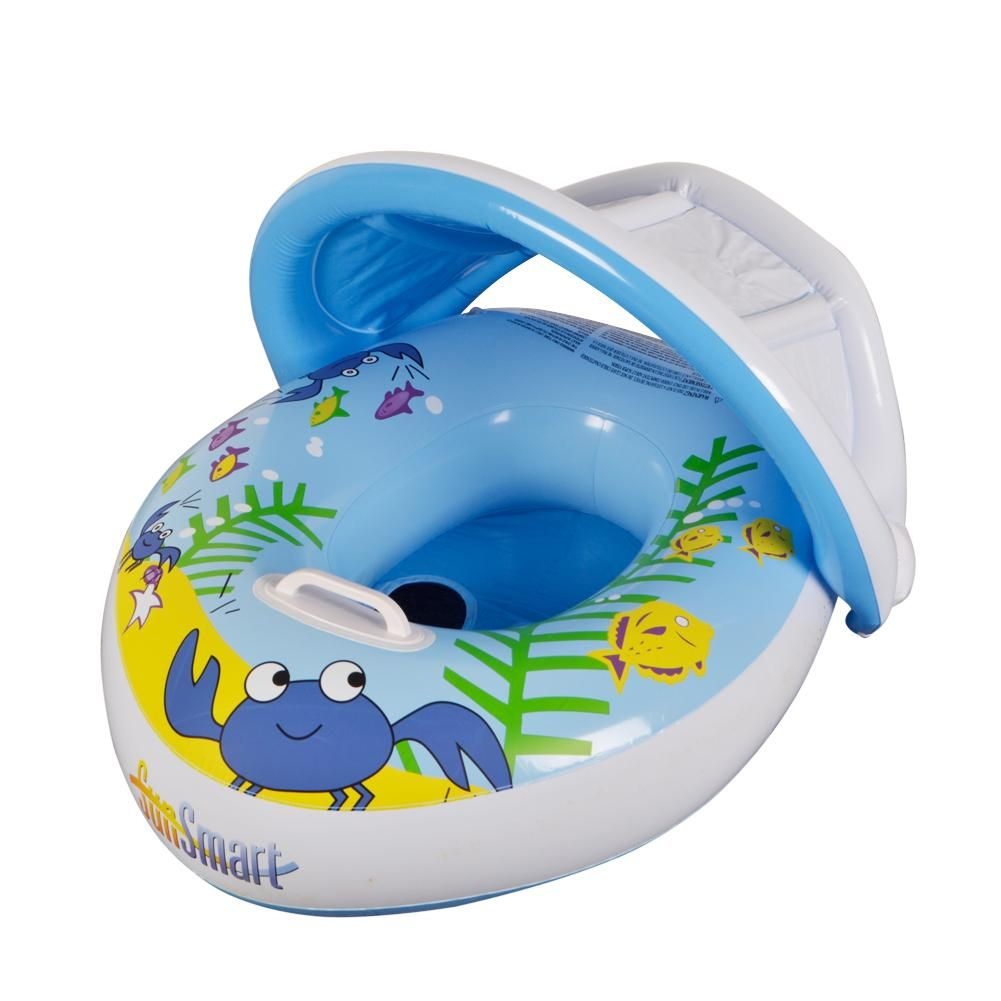 Baby swim ring pool float blue boat baby swimming