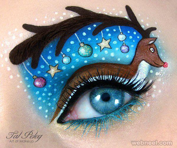 renas arte maquiagem dos olhos