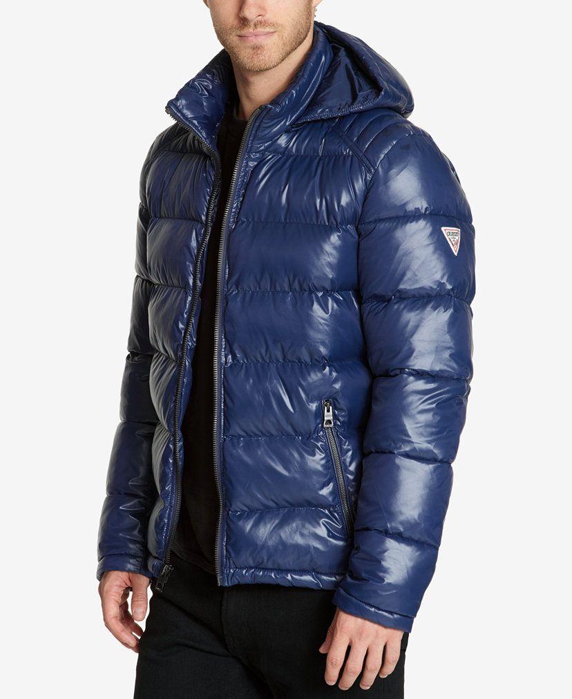 Guess Men S Hooded Puffer Coat Reviews Coats Jackets Men Macy S Mens Outdoor Jackets Mens Hooded Mens Winter Fashion [ 1012 x 828 Pixel ]