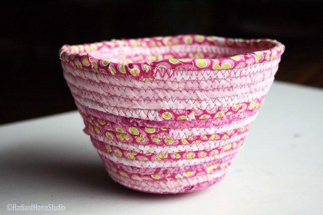 Pink (Valentine) Scrappy Fabric Bowl| Radiant Home Studio