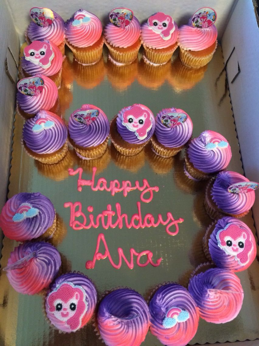 Cupcake Cake 5th Birthday My Little Pony Ava