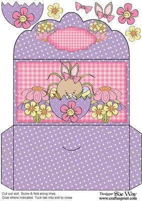 Peeping Bunny Easter Money Wallet Gift Card Envelope Cardmaking And Papercraft Easter Templates Printables