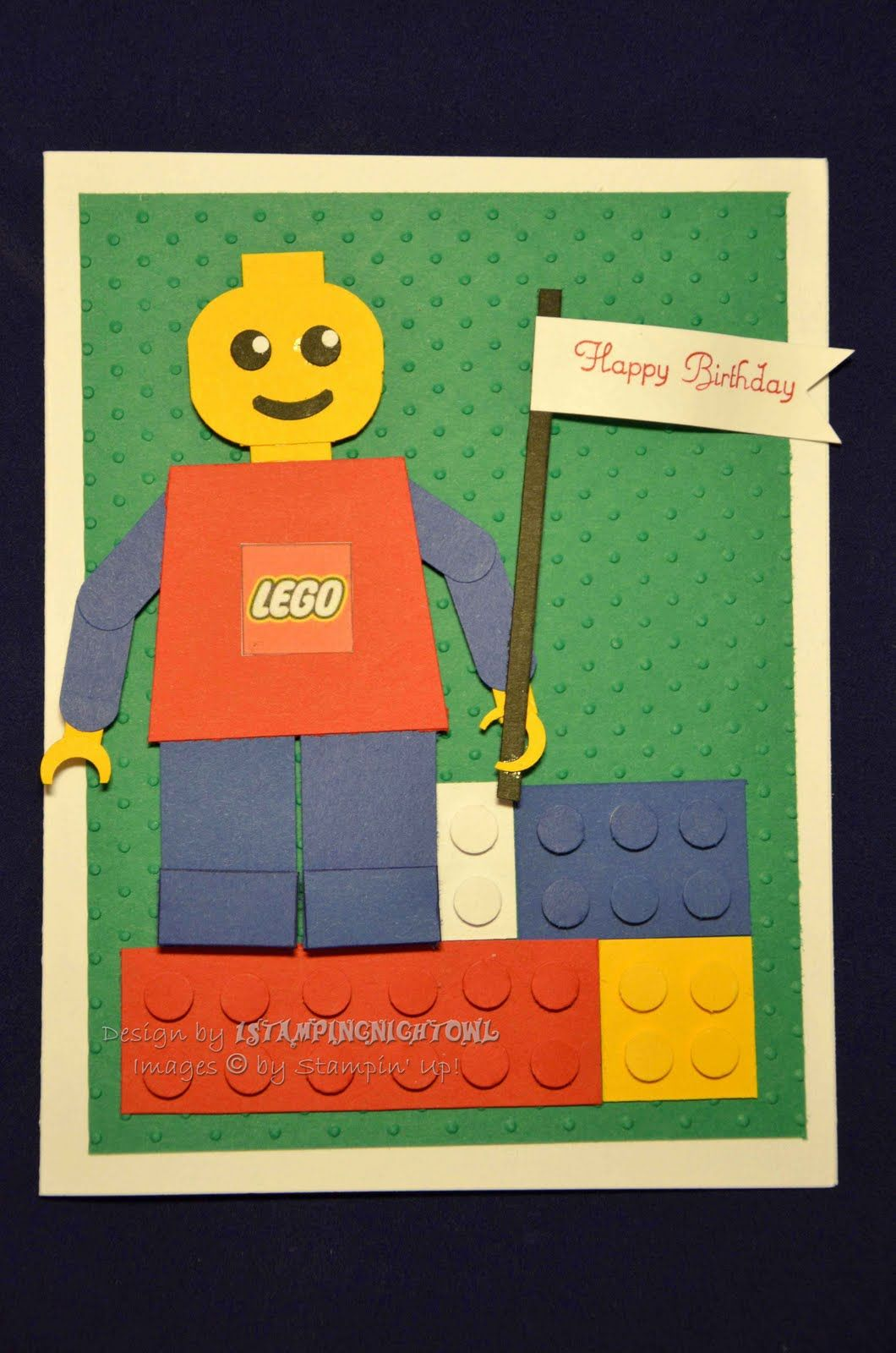 1stampingnightowl Lego Birthday Card Cool Things I Want To Make