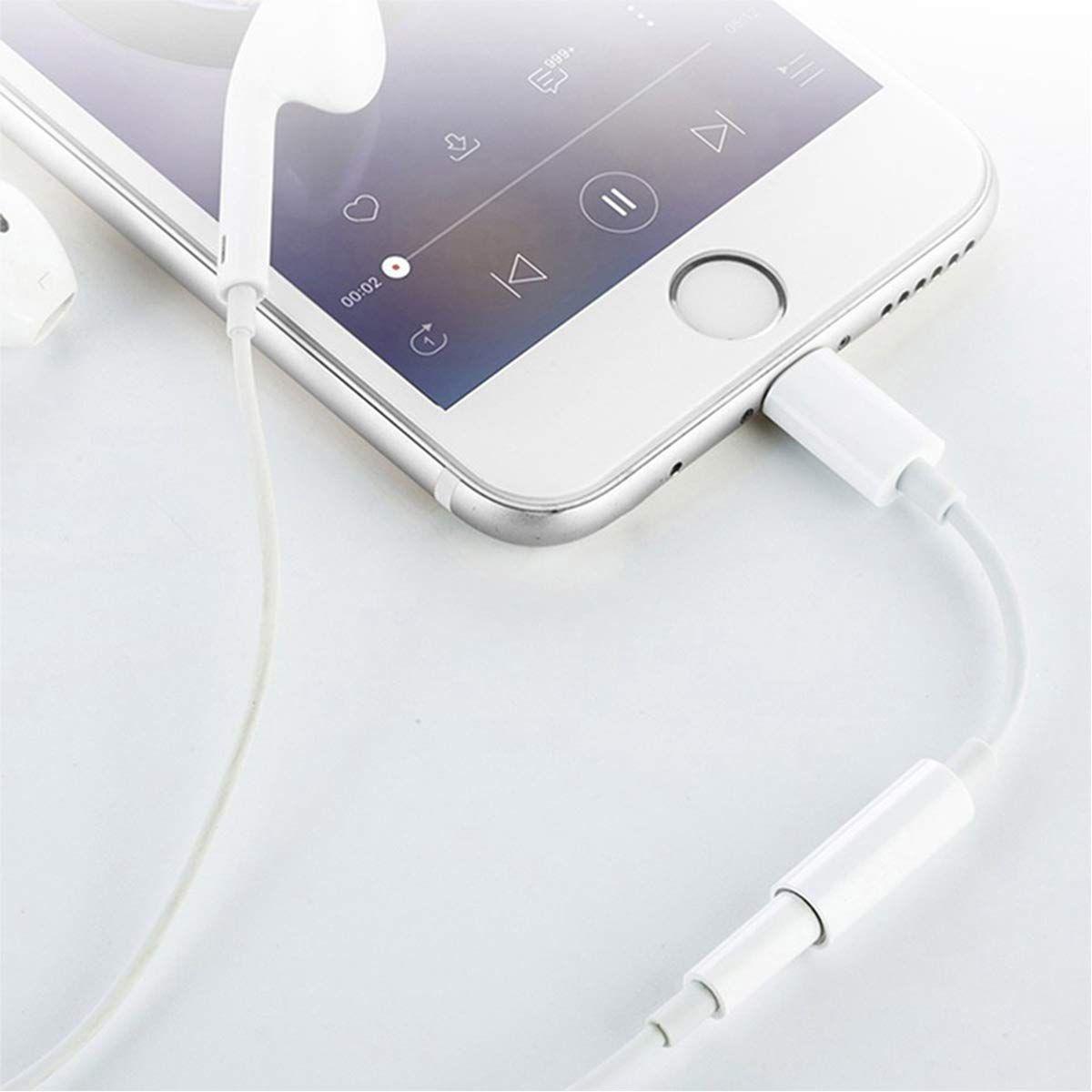 uk availability cd727 73da1 Headphone Jack Adapter for iPhone 3.5mm Earphone Adaptor compatible ...