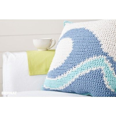 Free Intermediate Pillow Crochet Pattern | Bernat | Yarnspirations ...