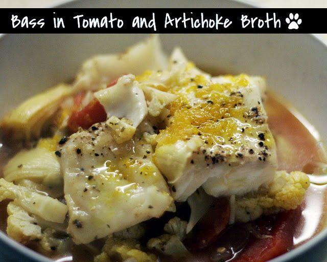 Bass in Tomato and Artichoke Broth