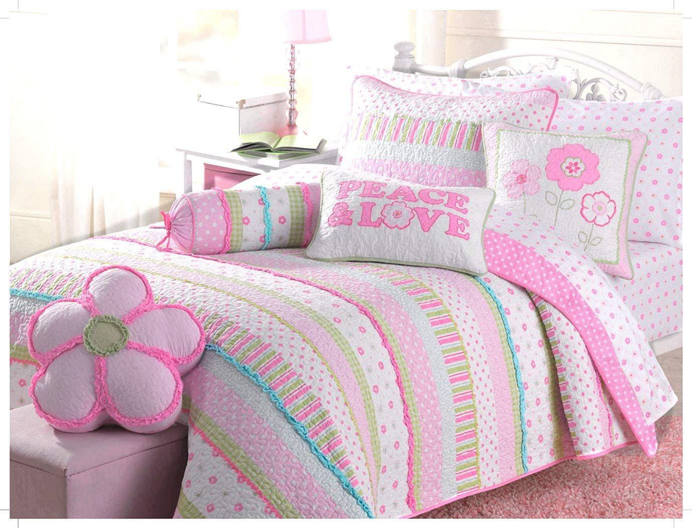 6 Piece Quilt Bedding Set In 2020 Quilt Sets Bedding Green Bedding Green Bedding Set