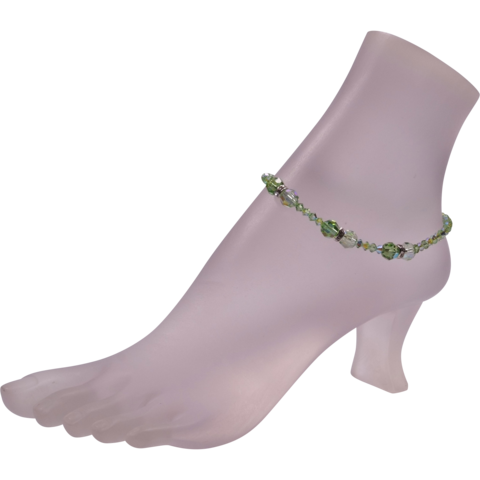 Angel Anklets: Healing Angel - Archangel Raphael | $50.00 Peridot Green & Pale Green can help you anchor in healing light to bring your hue-man body into alignment with your light bodies.
