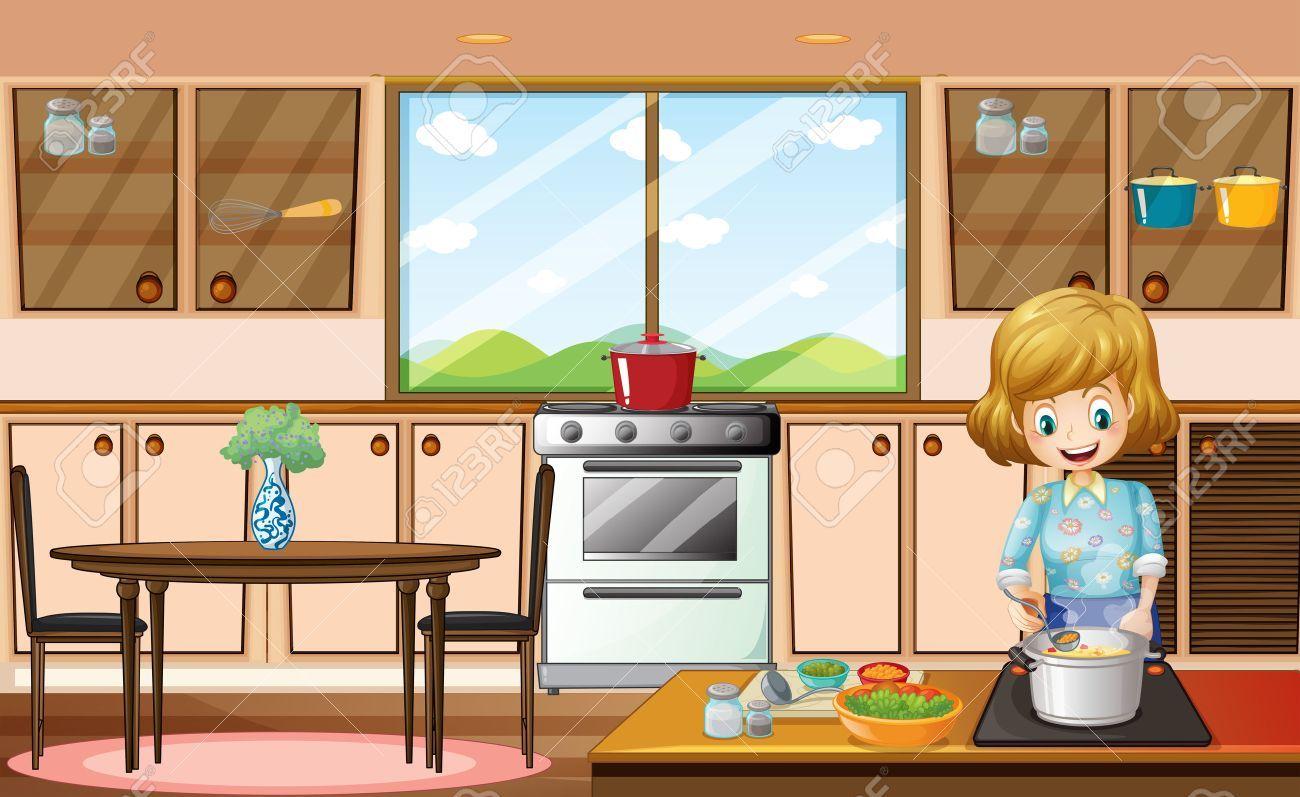 kitchen clipart ile ilgili görsel sonucu Evler