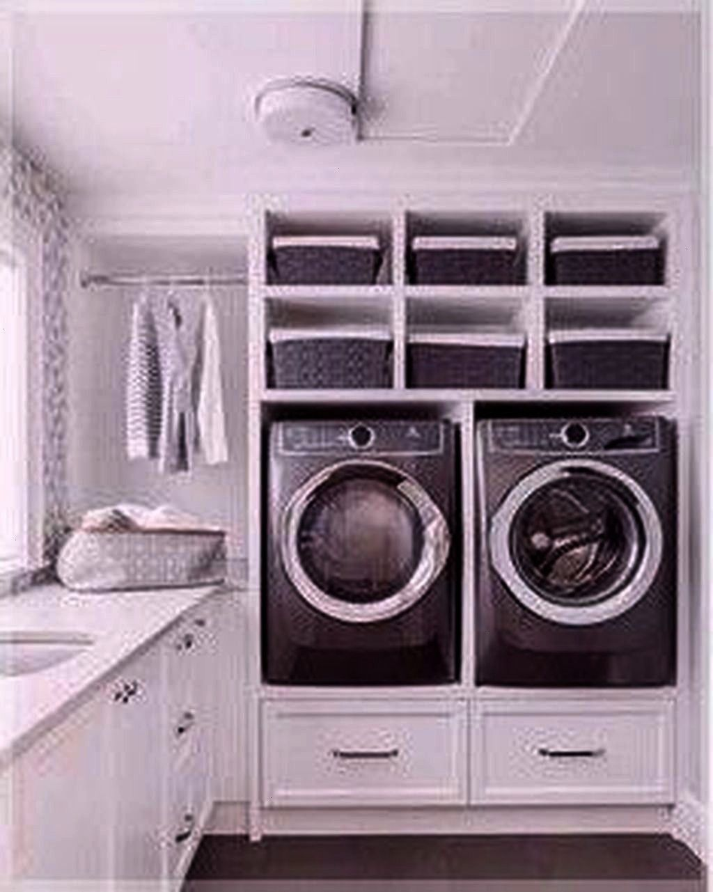 Laundry Room Layout Ideas  30 Relaxing Laundry Room Layout Ideas 30 Relaxing Laundry Room Layout Ideas Spacesaving ceilingmounted clothes drying rack with remote control...