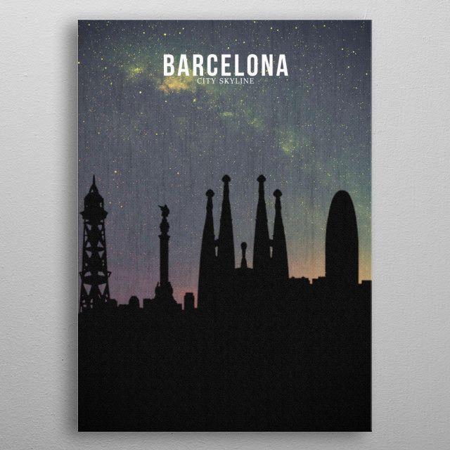 BARCELONA_Milky Way metal poster | Displate thumbnail