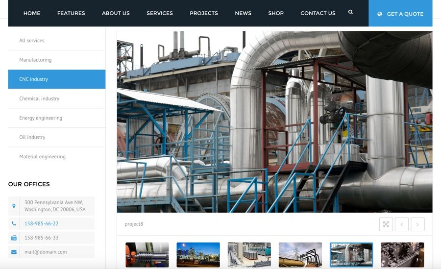 We Design Professional Manufacturing Websites Custom To Your Business To Help You Stand Out From Competit Materials Engineering Manufacturing Chemical Industry