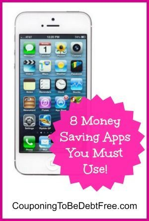 Check out 8 money saving apps that you must use to save even more! #coupon #app www.couponingtobedebtfree.com