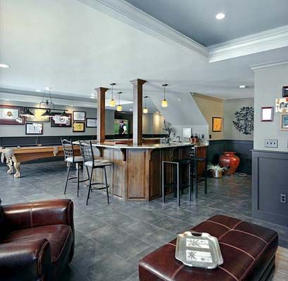 Built In Bar And Pool Table Basement Remodel Rhino Builders Amazing Basement Remodeling Kansas City