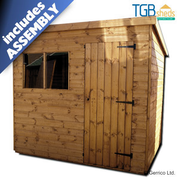 Tgb Superior Pent Shed Installed Lowest Uk Price Free Delivery Assembly 15