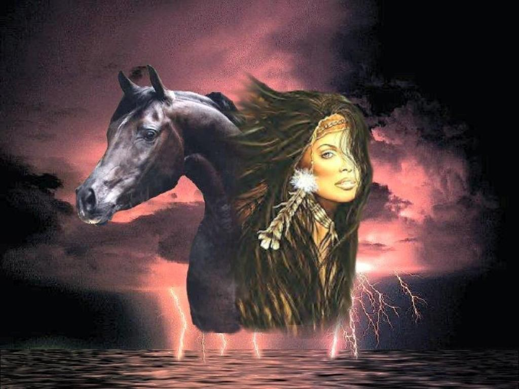 Free Native American Wallpapers Girl Horse Indian