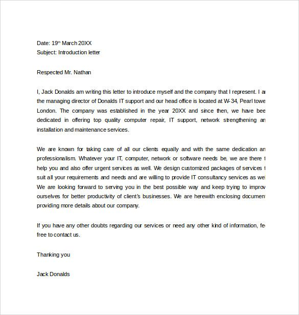 Beautiful Marketing Introduction Letter Samples Marketing Letter Template 38 Free  Word Excel Pdf Documents, 6 Letter Of Introduction Templates Free Sample  Example ... Pertaining To New Product Introduction Letter Template