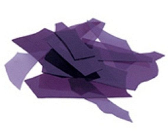 Bullseye Transparent Purple Confetti Glass Chips for Fusing 90 COE