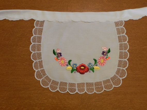 Apron Kalocsa hand embroidered by Hungarianhouse on Etsy