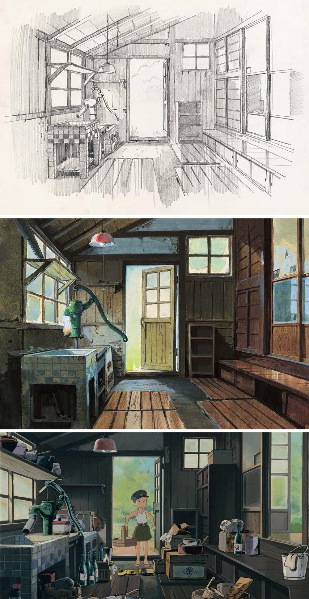 Kadzuo Oga 男鹿 和雄 Moj Sosed Totoro となりのトトロ Studiya Gibli スタジオジブリ スタジオジブリ アニメの風景 風景