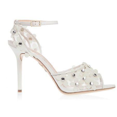 Sandales en suede avec cristaux Charlotte Olympia sur Shoescribe.com printemps ete 2015